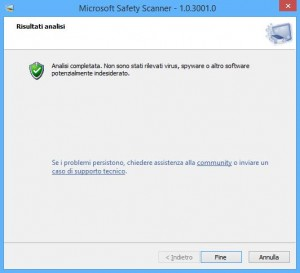 Guida a Microsoft Safety Scanner