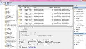 Visualizzatore Eventi - Registro Operativo in Diagnostics-Performance