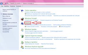 aprire sistema in windows 7