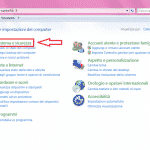 aprire sistema in windows 7
