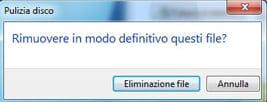 pulizia disco - eliminazione file