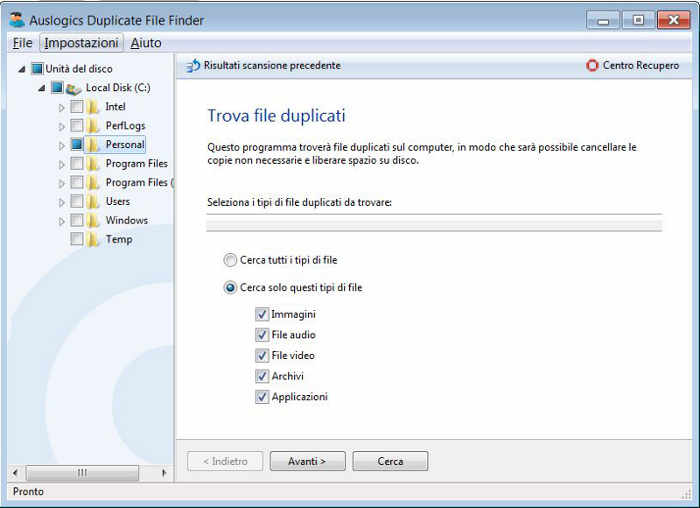 Auslogic_Duplicate_Find_Finder_schermata_1