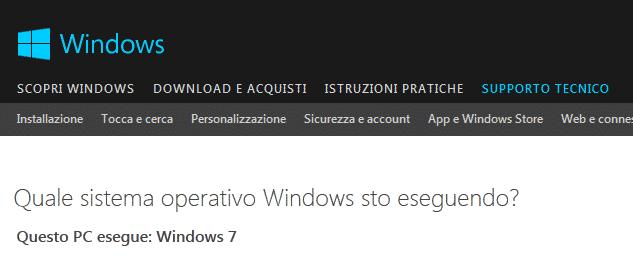 sistema operativo in esecuzione nel computer