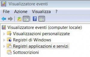 Registri applicazioni e servizi