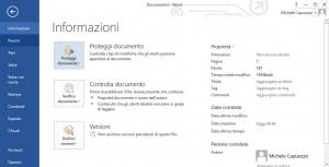 Proteggere file di Office 2013 con password - Informazioni