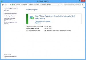 Windows Update - interfaccia