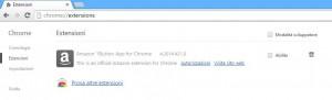 Disattivare o rimuovere plugins e addons da Chrome