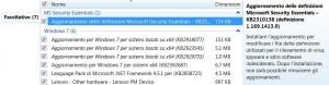 Windows Update - dettagli degli aggiornamenti