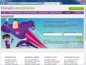 Speed Test di Tiscali