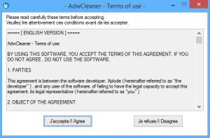 AdwCleaner - Termini e condizioni