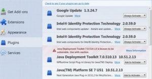 Plugins in Firefox