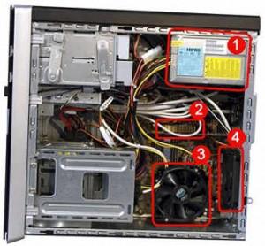 Posizione delle ventole in un PC desktop