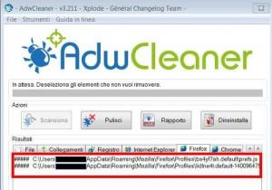 AdwCleaner voci Firefox