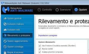 Malwarebytes Anti-Malware - ricerca rootkit