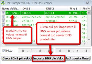 DNS Jumper - Come impostare il server DNS più veloce