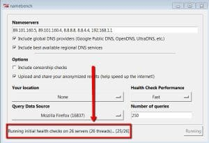 Health Check dei server DNS - Namebench