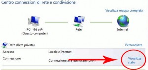 Visualizza stato rete in windows vista