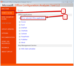 microsoft-office-configuration-analyzer-tool-avviare-scansione