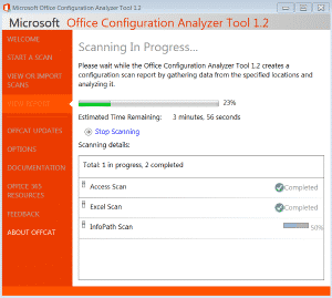 office-configuration-analyzer-tool-tempi-scansione