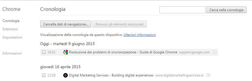Come Cancellare Cronologia Chrome