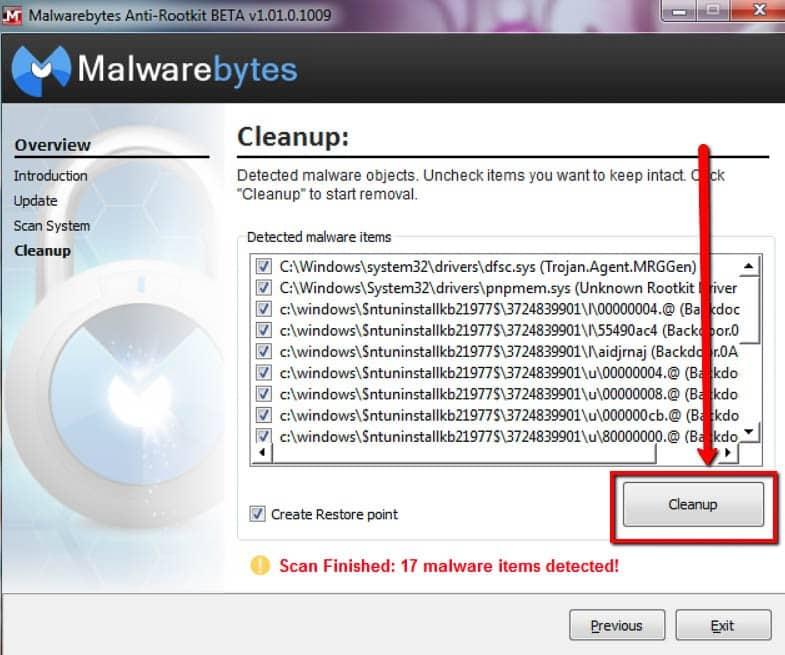 Malwarebytes Anti-rootkit come rimuovere rootkit