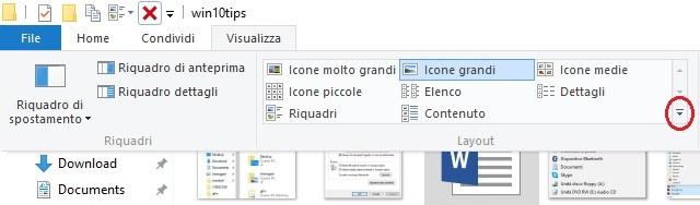gruppo comandi layout