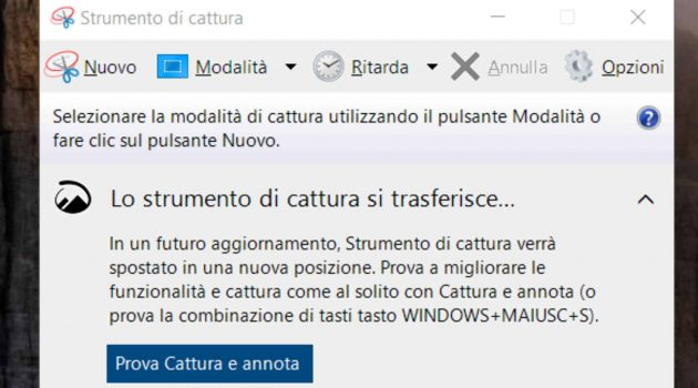 Strumento di Cattura - Windows 10